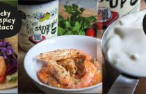 Prawn taco & Spicy Avo Cream recipe